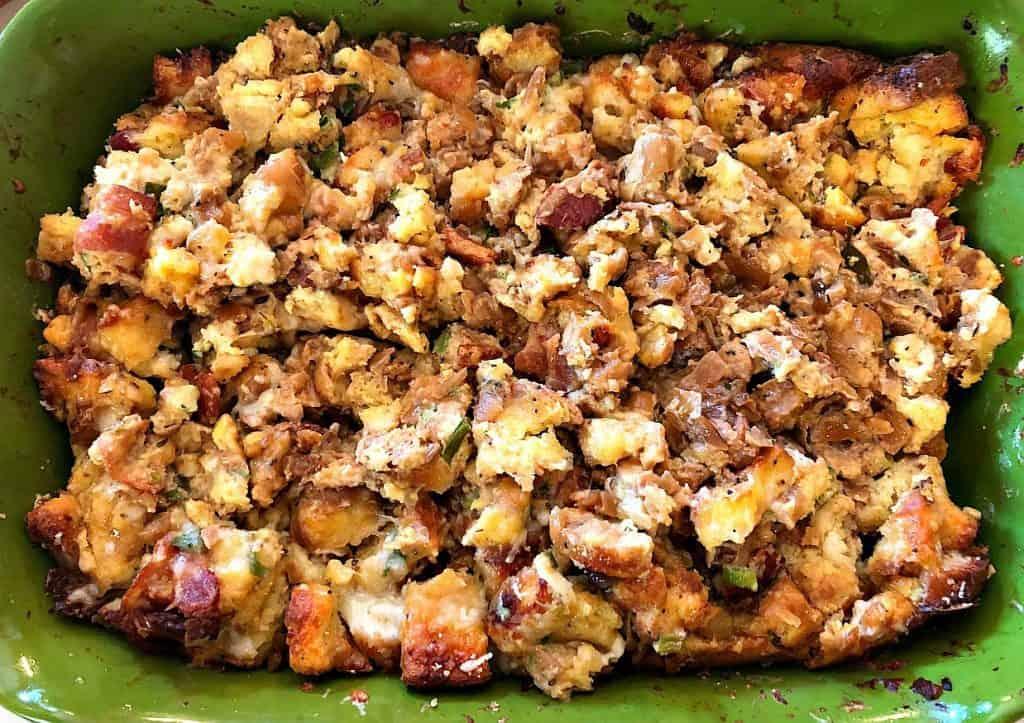 Strat, french onion, bacon, easy brunch