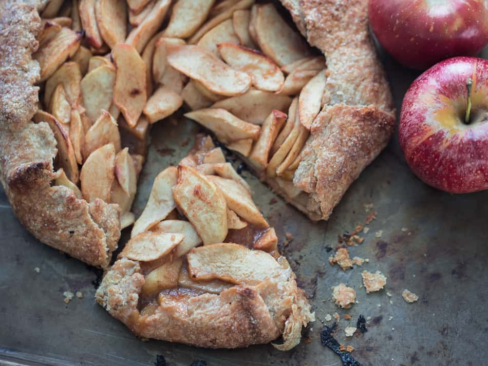 Apple galette, easy apple galette, thanksgiving recipe,