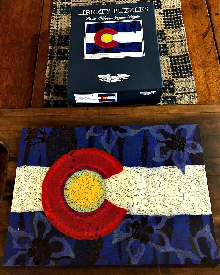 Libery puzzle, colorado flag, fun