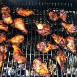Garlic Sticky Wings on the grill