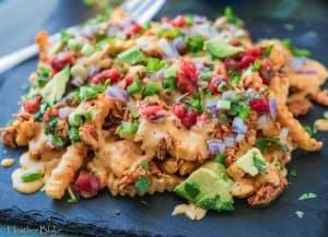 Tinga Chicken Cheese Fries