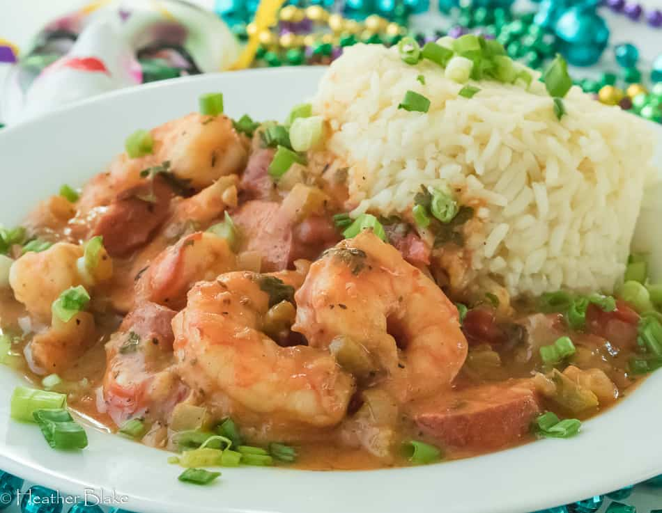 Shrimp and Andouille Sausage Étouffée