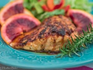 Blood Orange Glazed Salmon