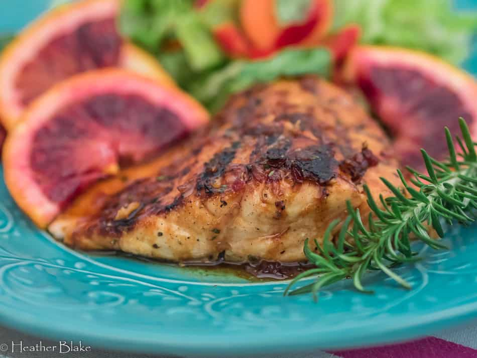 Blood Orange Glazed Salmon