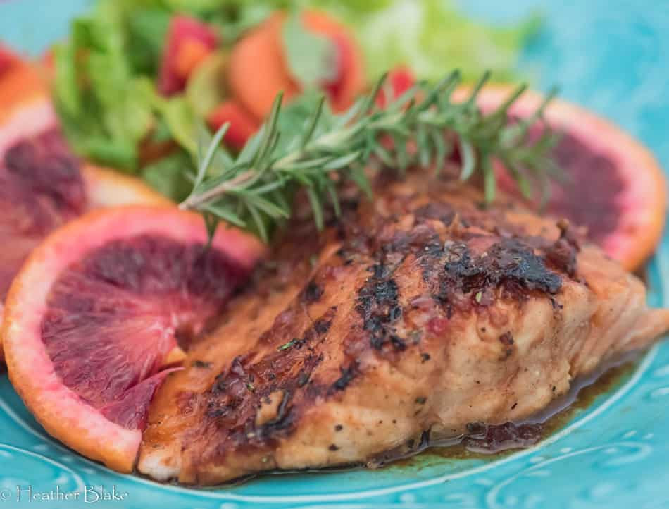 Blood Orange Glazed Salmon - Rocky Mountain Cooking