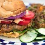 Asian Chicken Shiitake Mushroom Burgers