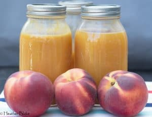Fresh Peach Nectar