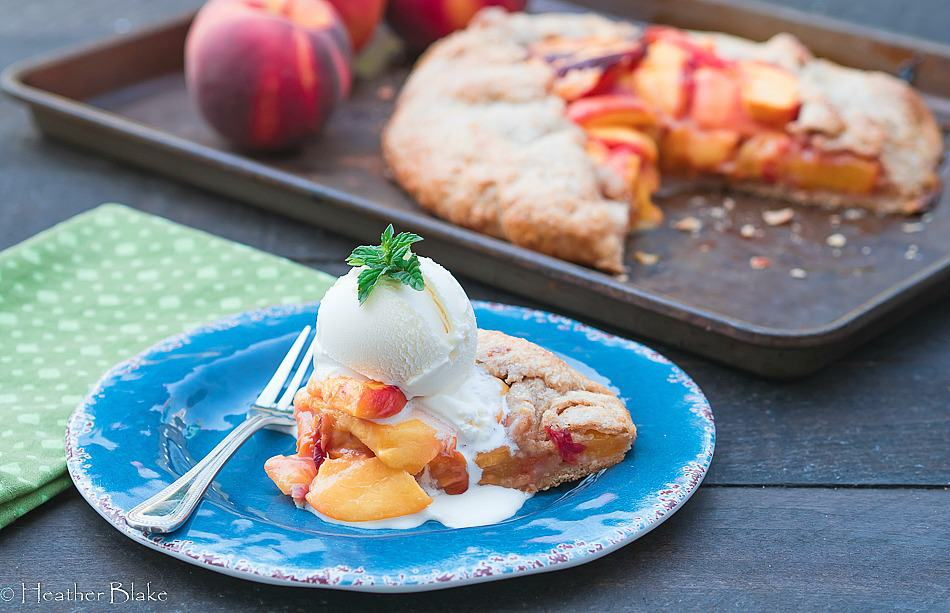 Homemade Peach Galette