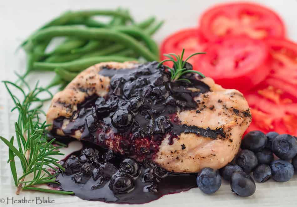 Savory Balsamic Blueberry Sauce