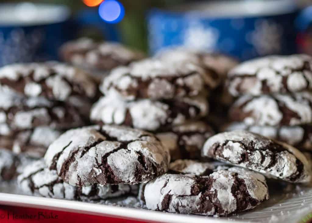 Chocolate Hazelnut Crinkle Cookies