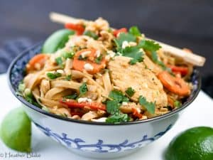 Healthy Chicken Pad Thai