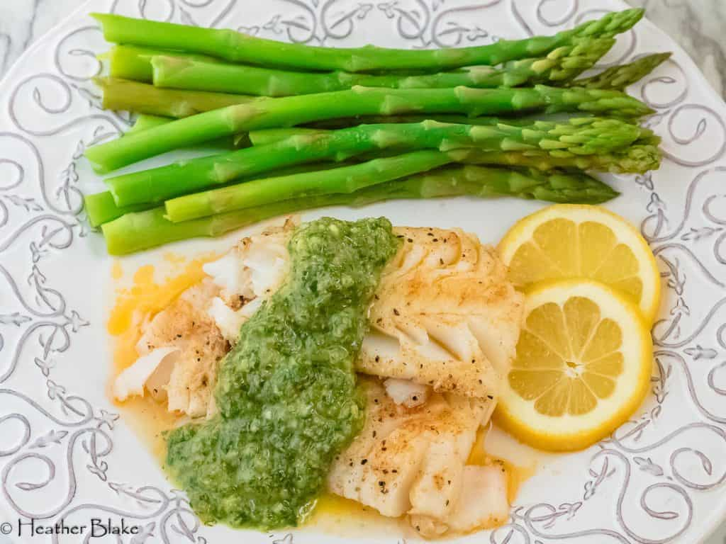 Cod with Fresh Herb Sauce