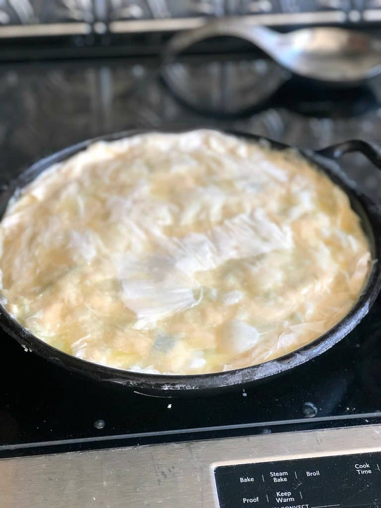 Spring Chicken Pot Pie Ready For the Oven