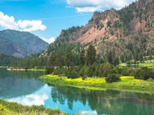 A picture of the Clark Fork River in Montana