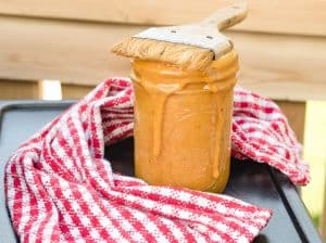 A picture of Carolina Mustard sauce in a jar