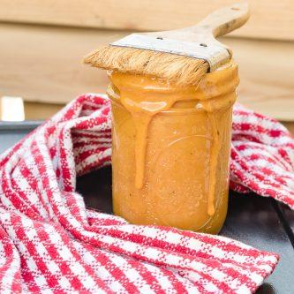 A picture of Carolina Mustard sauce in a jar