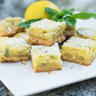 A picture of Lemon Basil bars