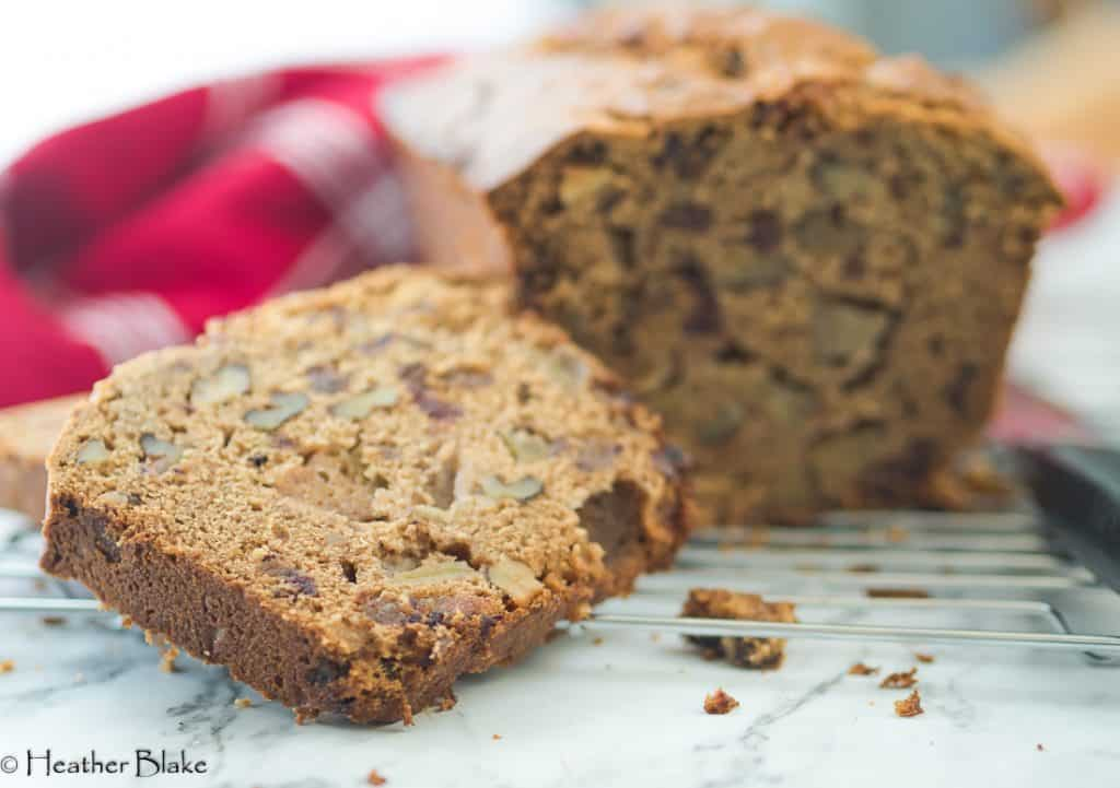 A picture of apple date nut bread