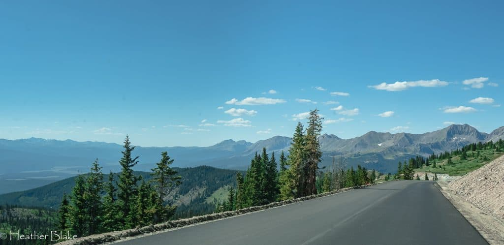 This picture was taken of Cottonwood Pass on our way to the West Elk Loop
