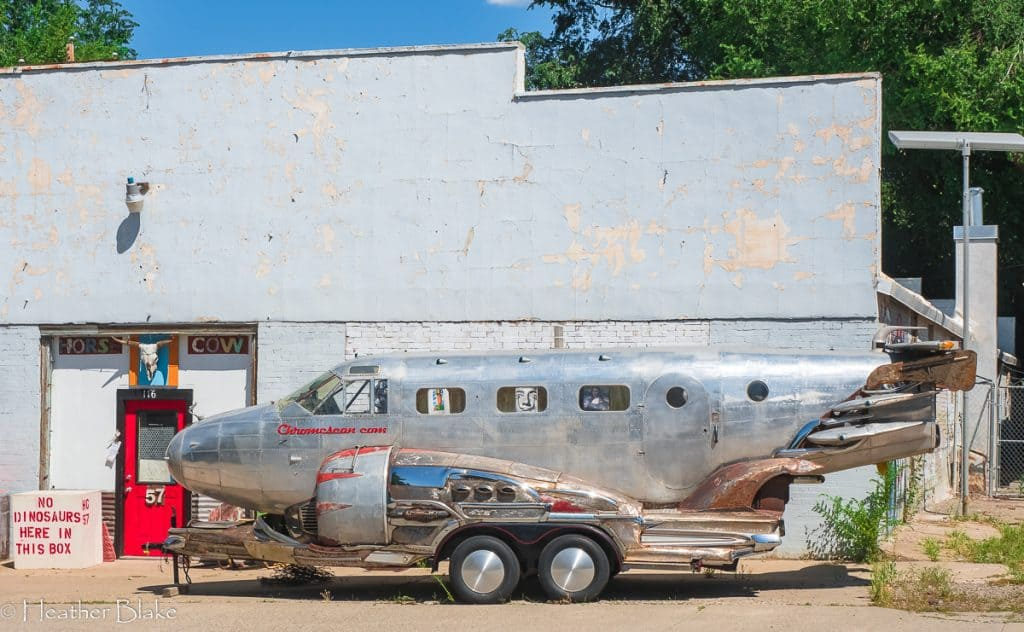 A picture of airplane/car contraption in Paonia, Colorado