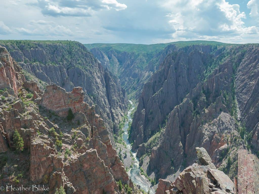 A picture taken at the Black Canyon of the Gunnison National Park.