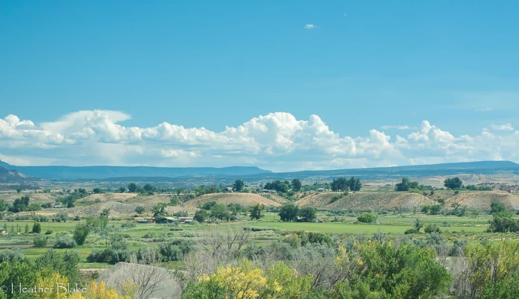 A picture of beautiful farmland near Hotchkiss, Colorado