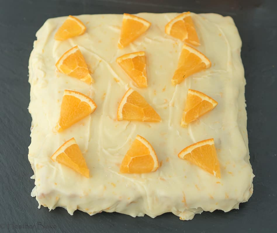 A picture of Orange Creamsicle Blondies