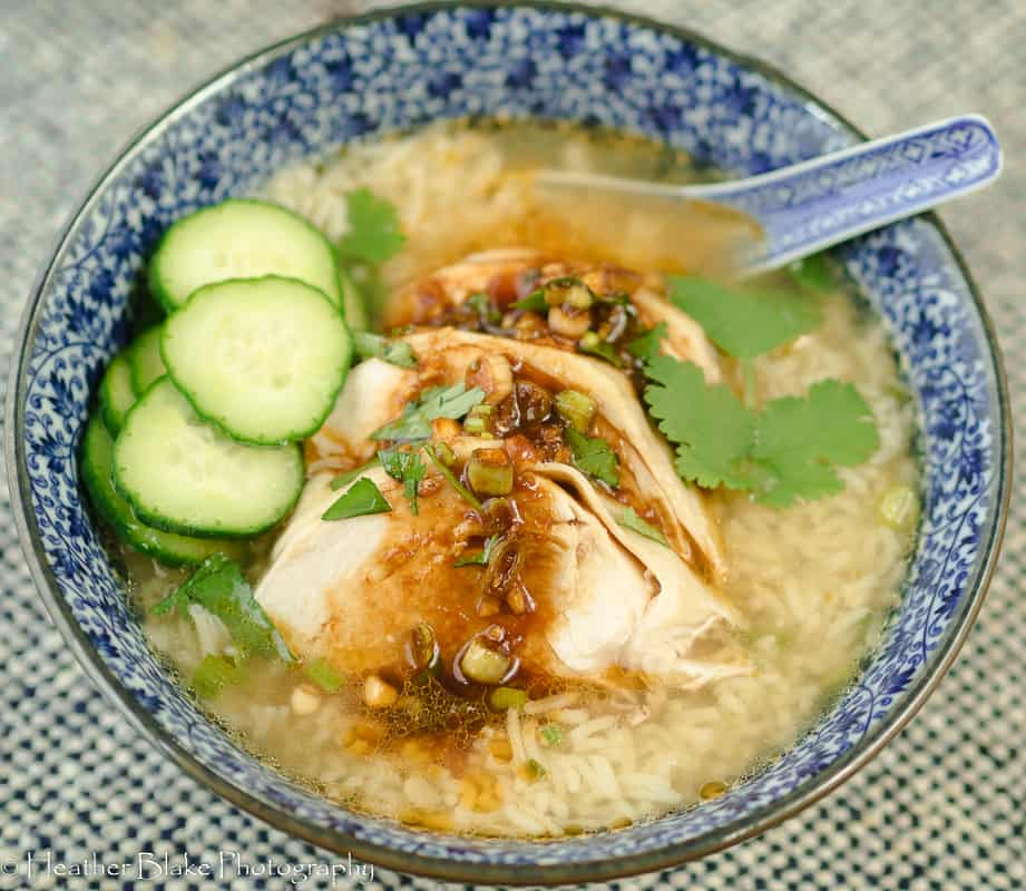 A picture of Weeknight Hainanese Chicken Rice Soup
