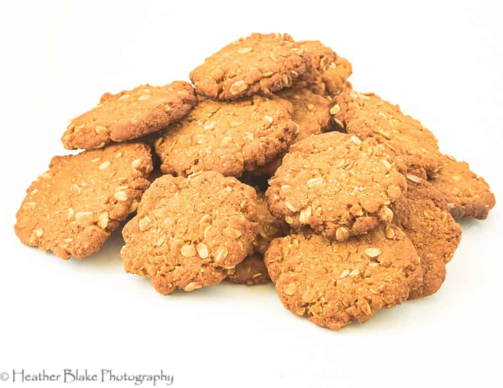 A picture of Anzac Biscuits. Delicious cookies form Australia.