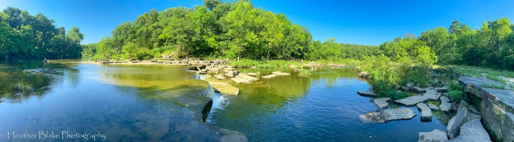 A picture of the Osage Falls in Pawhuska, Oklahoma. A beautiful swimming hole.